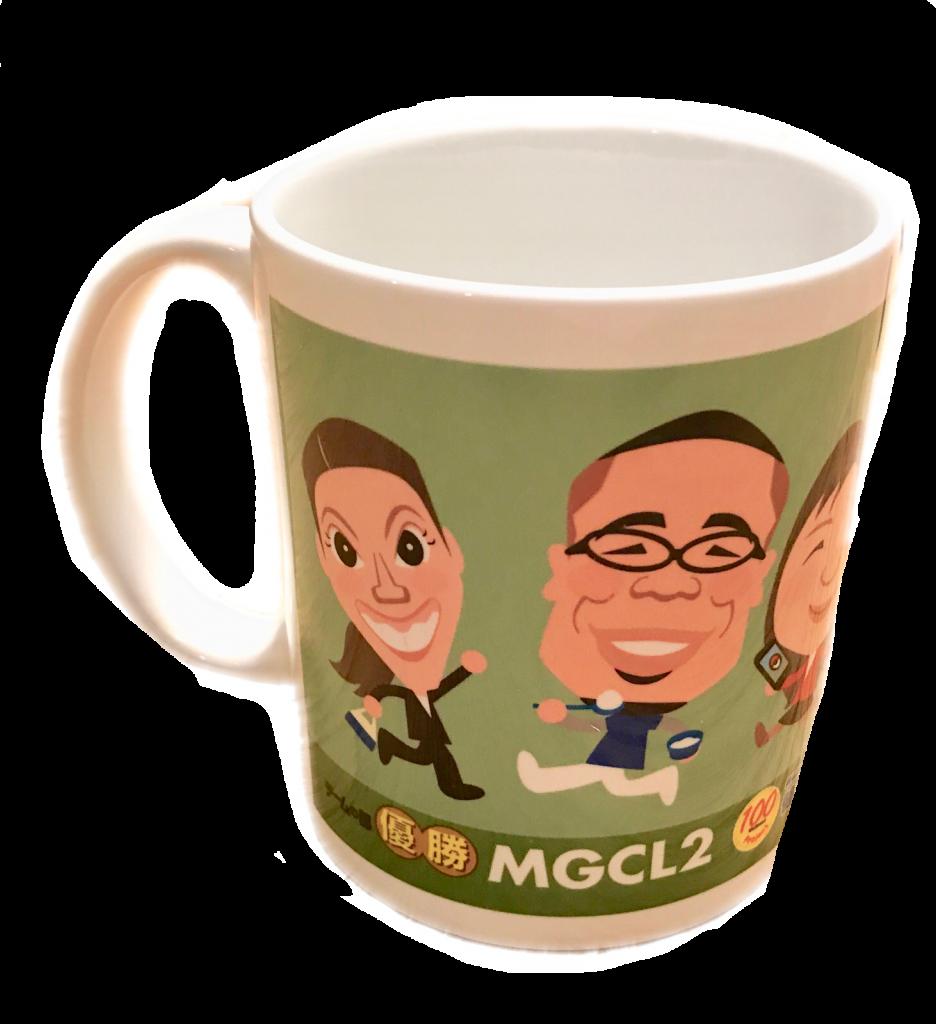 チーム賞景品のマグカップ