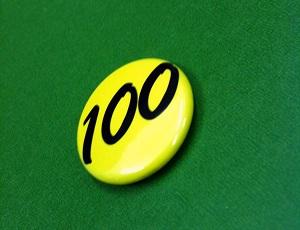 100バッジ