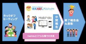 健康100日プロジェクトの実施イメージ